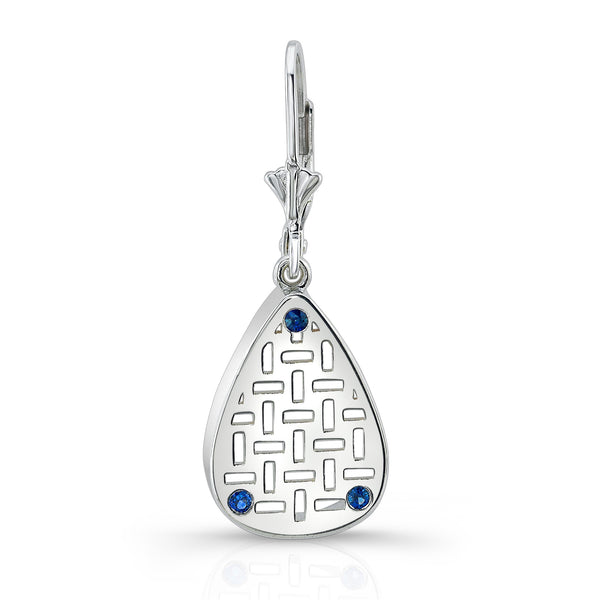 Allure Drop Earrings (Sterling silver with Blue Sapphires) - Dafina Jewelry
