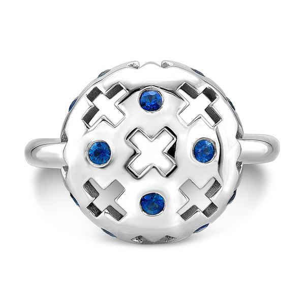 Majesty Candy Ring (14K Gold with Blue Sapphires) - Dafina Jewelry - 2