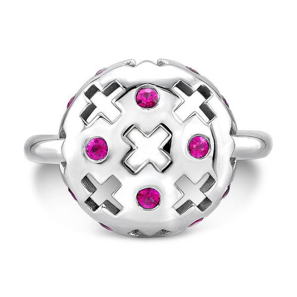 Majesty Candy Ring (14K Gold with Pink Sapphires) - Dafina Jewelry - 2