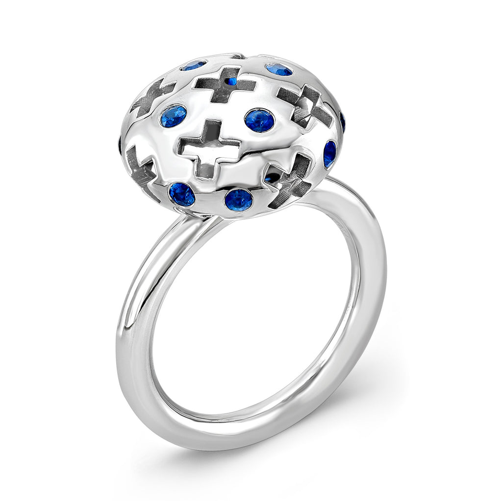 Majesty Candy Ring (14K Gold with Blue Sapphires) - Dafina Jewelry - 1