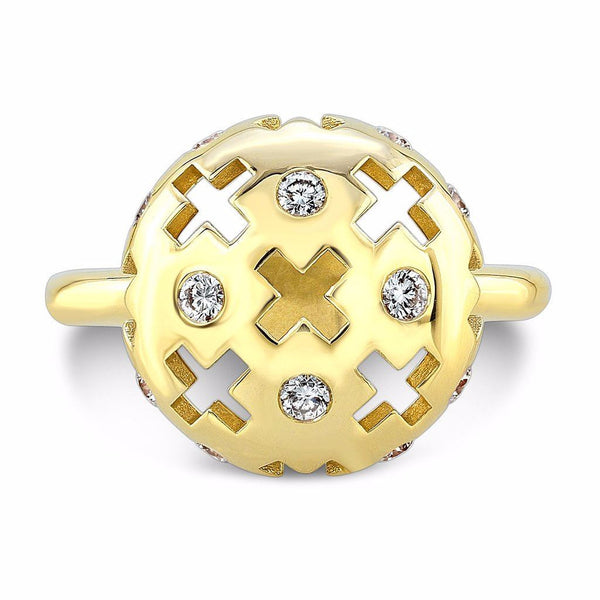 Majesty Candy Ring (14K Gold with Diamonds) - Dafina Jewelry - 2