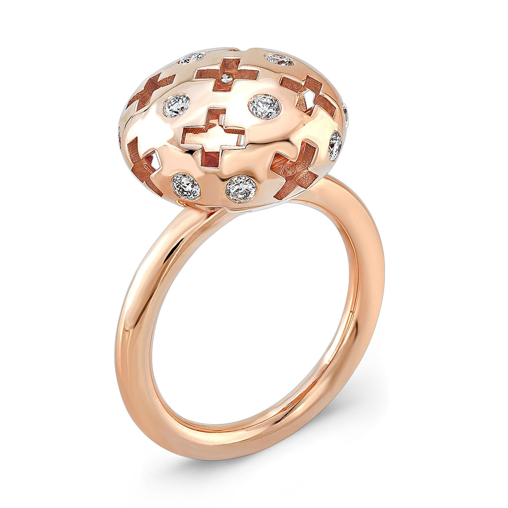 Majesty Candy Ring (14K Gold with Diamonds) - Dafina Jewelry - 1