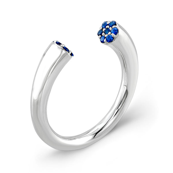Dafina Karma (Sterling silver with Blue Sapphires) - Dafina Jewelry