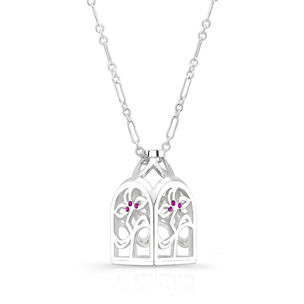 Dafina Love Bottle (Sterling silver with Pink Sapphires) - Dafina Jewelry - 1