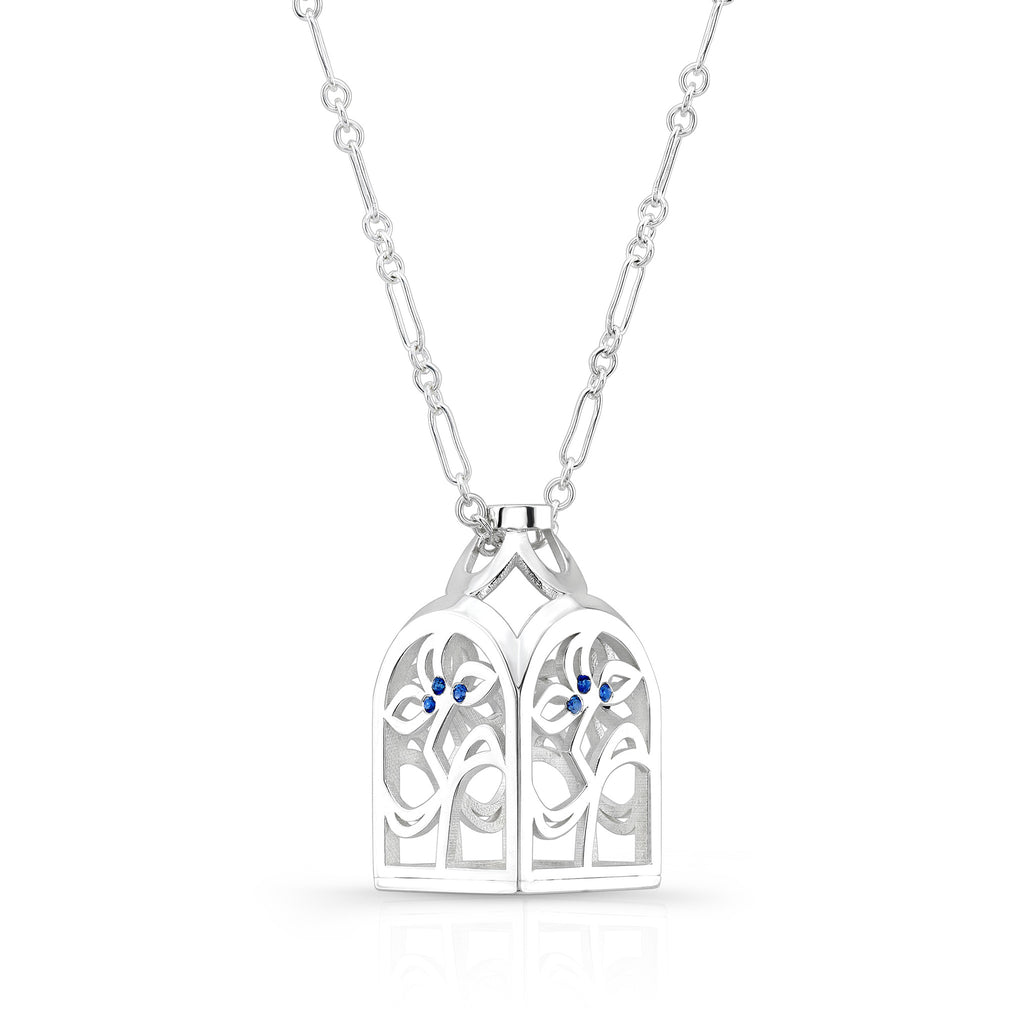 Dafina Love Bottle (Sterling silver with Blue Sapphires) - Dafina Jewelry - 1