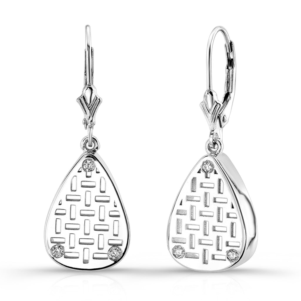 Allure Drop Earrings (14K Gold with Diamonds) - Dafina Jewelry