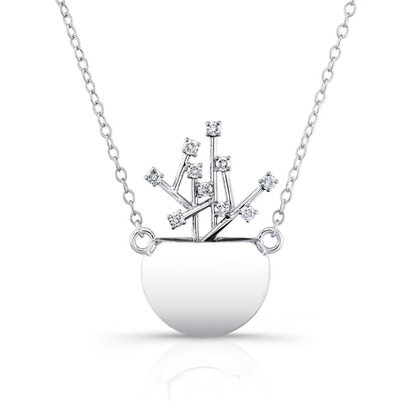 Diamond Pot Pendant (14K Gold with Diamonds) - Dafina Jewelry - 1