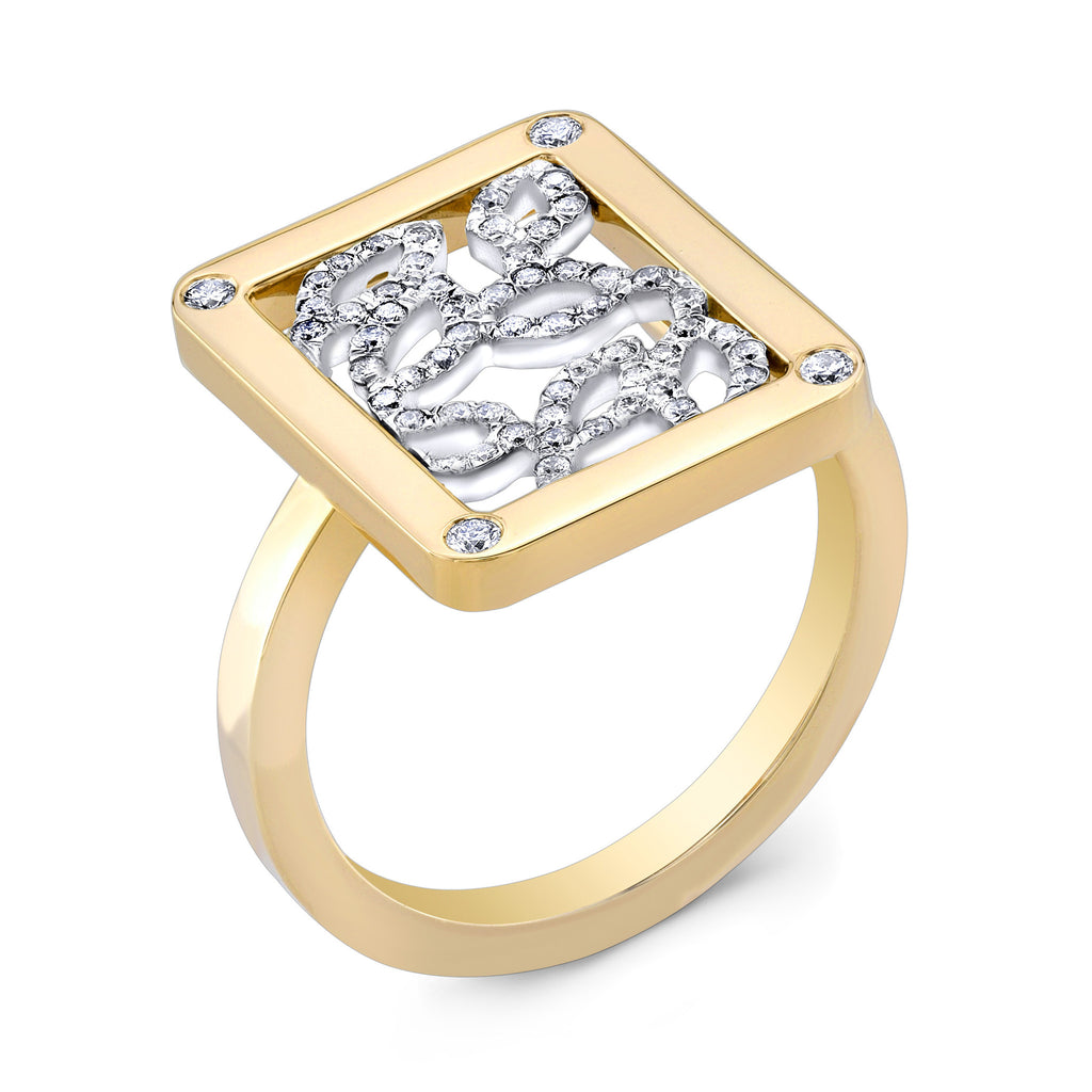 Madison Blossom Ring (14K Gold with Diamonds) - Dafina Jewelry - 1
