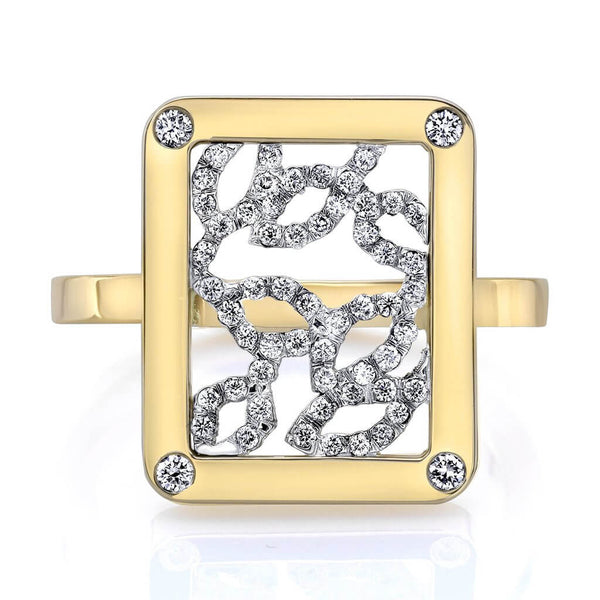 Madison Blossom Ring (14K Gold with Diamonds) - Dafina Jewelry - 2