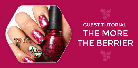 Guest Tutorial: The More The Berrier Nail Art