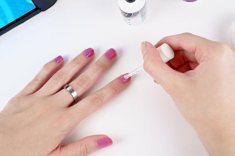 how to apply gel polish step 12