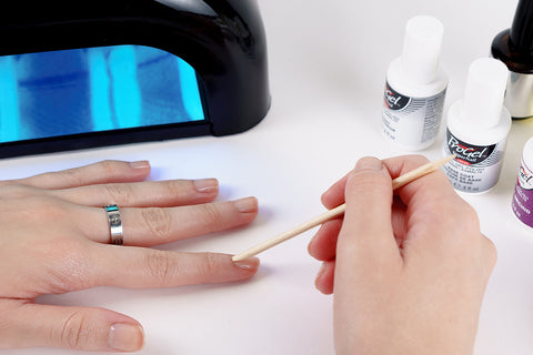 how to apply gel nail polish step 2