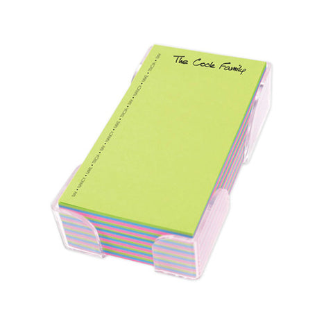 Acrylic Notepad Holder- Personalized Name - Color Pad