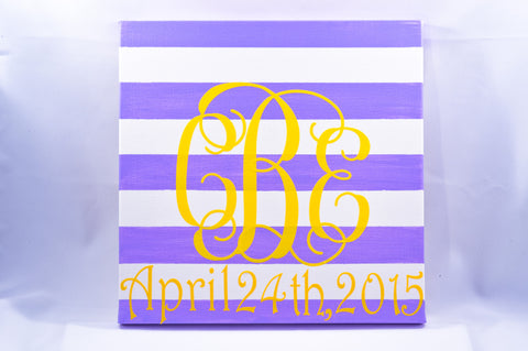 Striped Canvas - Personalized