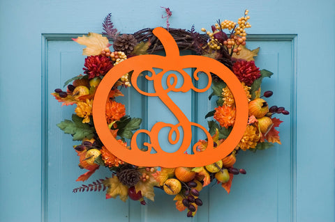 Pumpkin Wall / Door Monogram