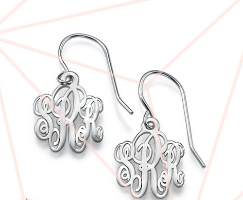 Monogram Dangle Earrings