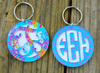 Layered Monogram Keychain