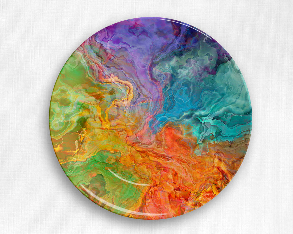 Abstract art outdoor Plate, microwave safe tableware