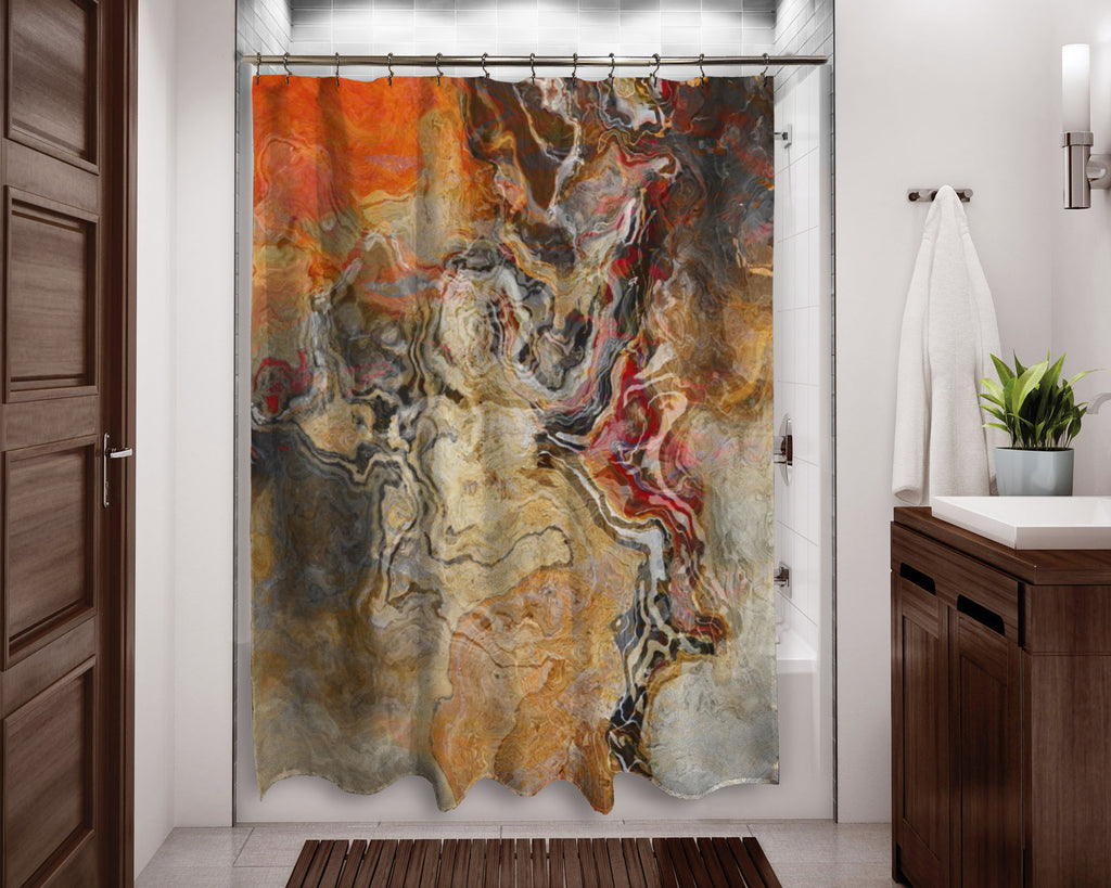 Shower Curtain, Cinnamon River
