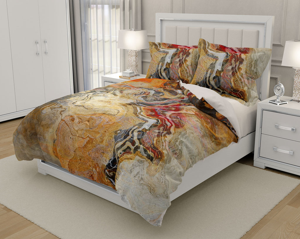 King or Queen Duvet Cover, Cinnamon River