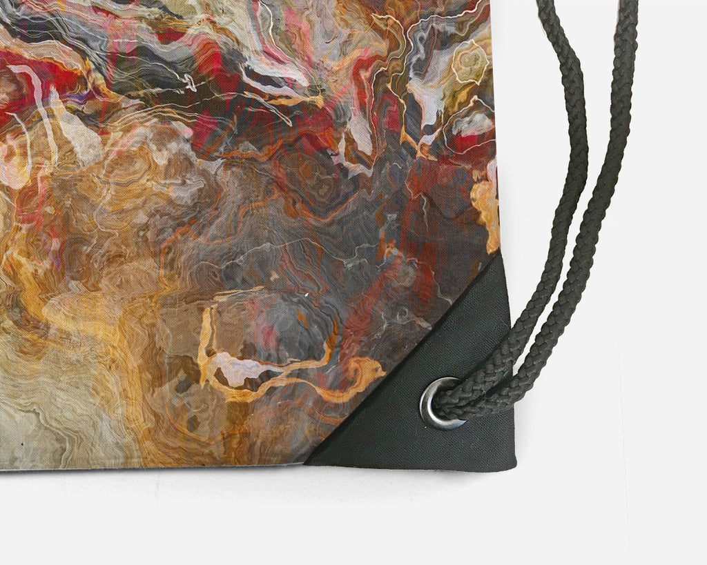 Drawstring Sling Bag, Cinnamon River