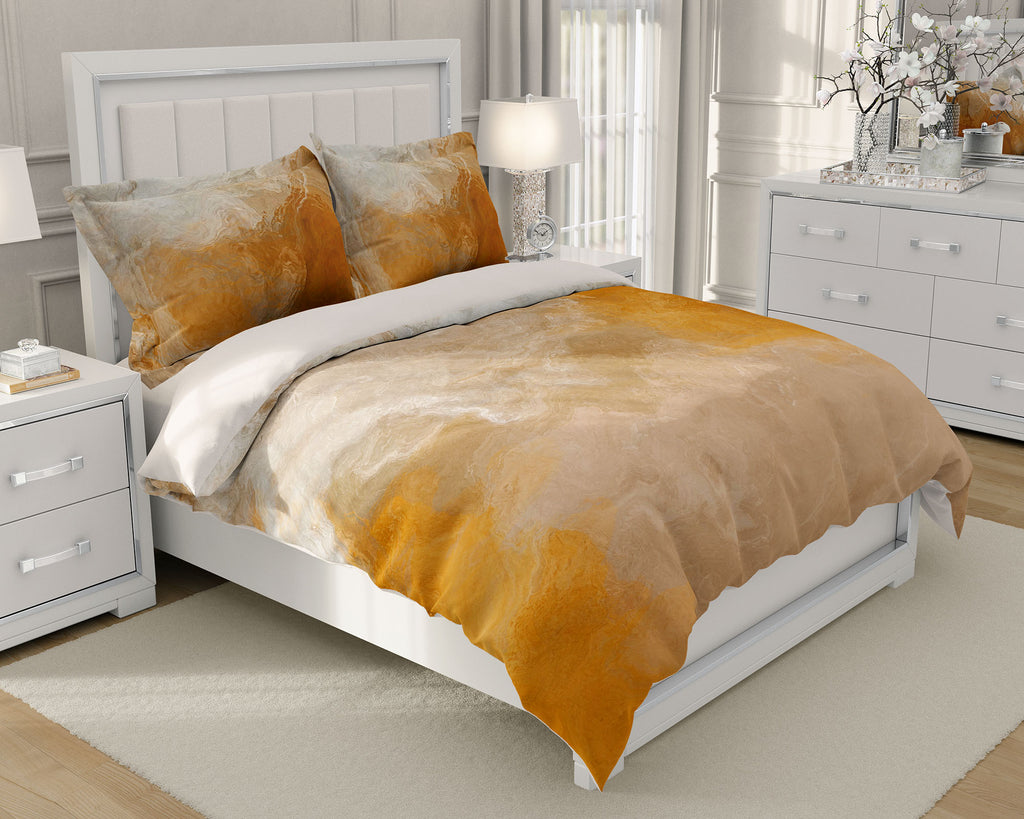 King or Queen Duvet Cover, Evening Gold