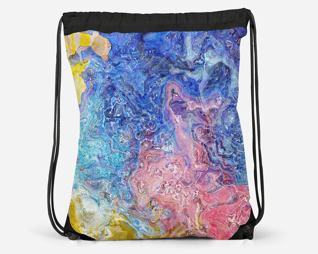 Drawstring Sling Bag, Floral Dream
