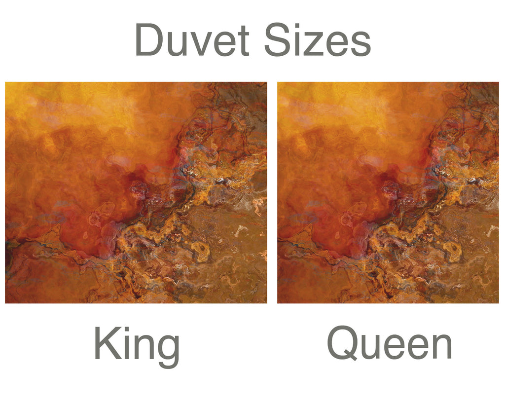 King or Queen Duvet Cover, Gold Rush
