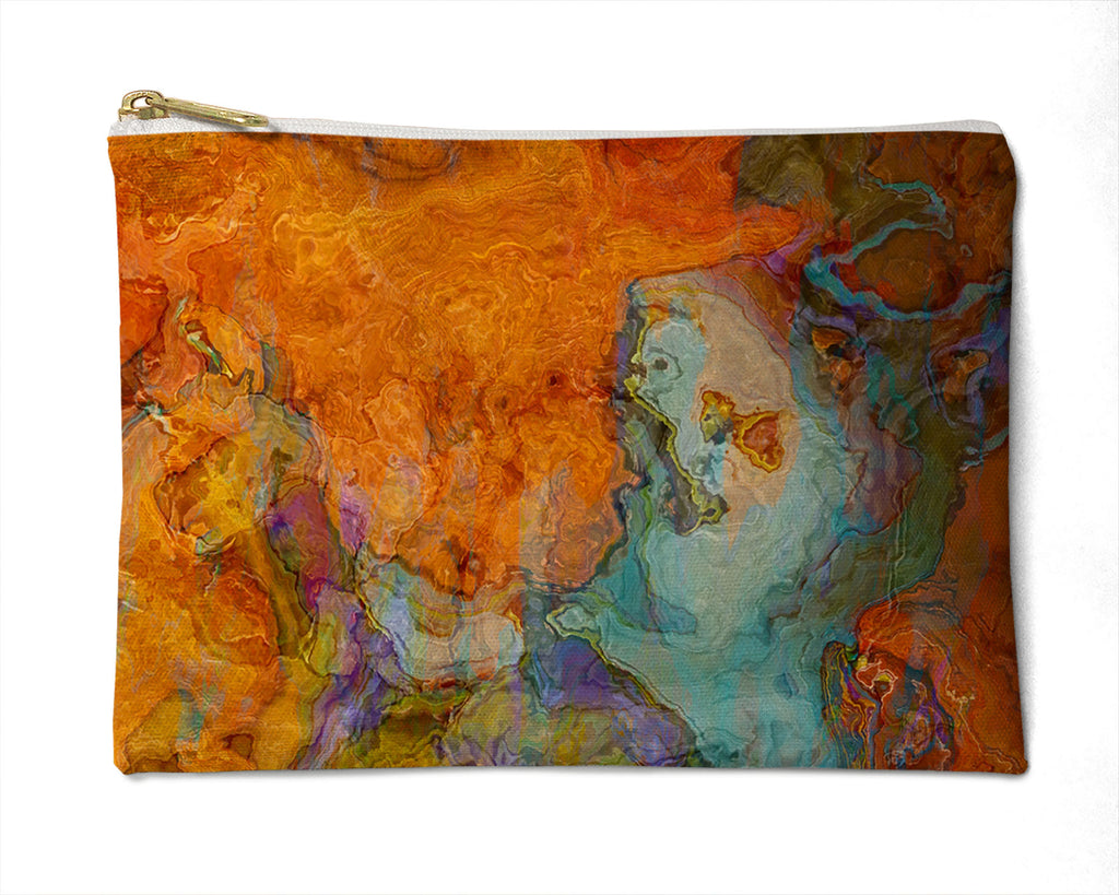 Makeup Bag, Pencil Case, Cosmetic Bag Abstract Art, Southwestern