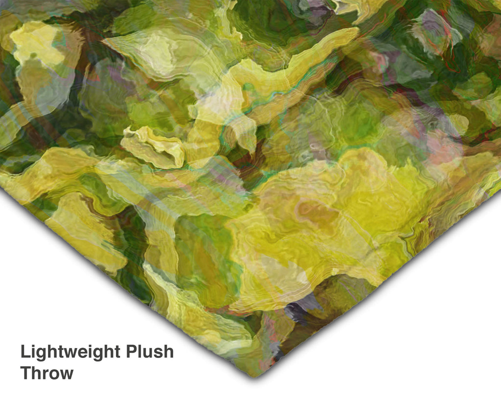 Abstract Art Blanket Throw, 50x60 and 60x80 Plush or Sherpa Fleece