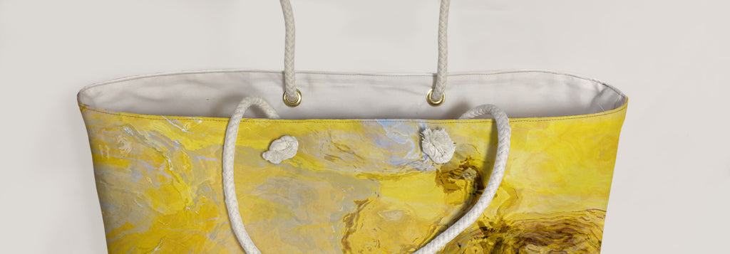 Oversized Tote, Mellow Yellow