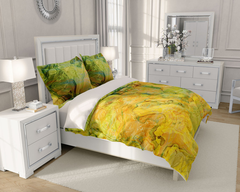 King or Queen Duvet Cover, Peach Grove
