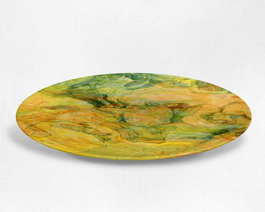 Plate or Bowl, Peach Grove