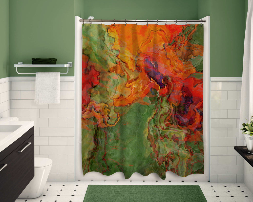 Shower Curtain, Poppies