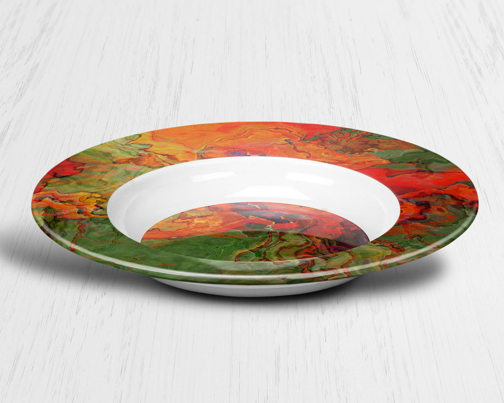 Plate or Bowl, Poppies