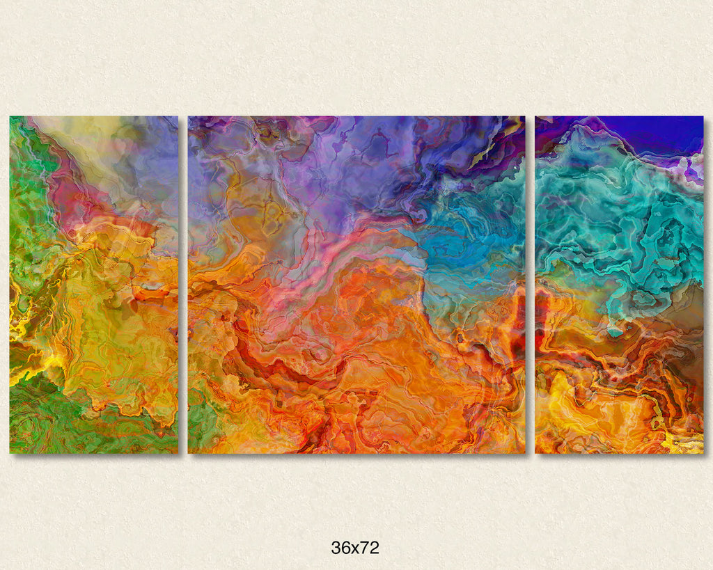 Canvas Print, 30x60 to 40x78, Rainbows Rising
