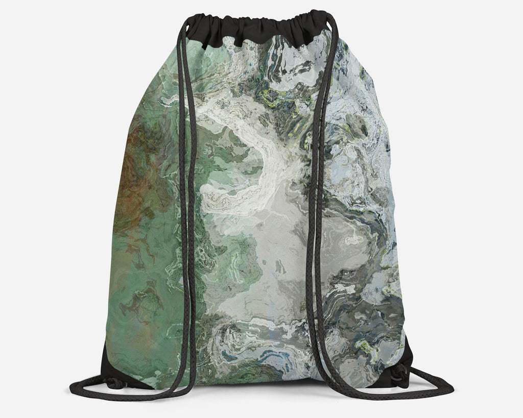 Drawstring Sling Bag, River Wind