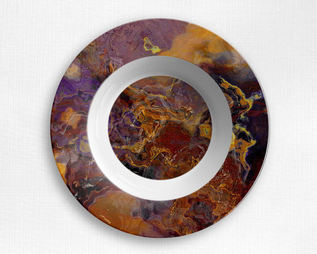 Abstract art outdoor Plate or Bowl, microwave safe tableware