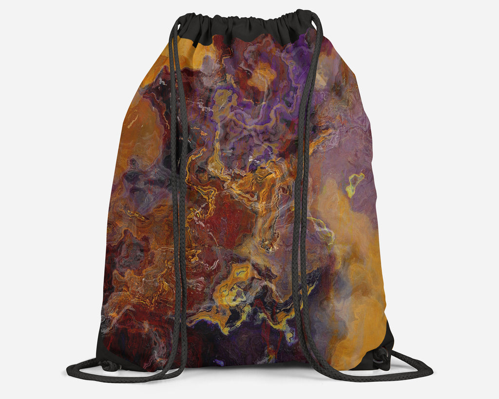 Drawstring Sling Bag, Riveted