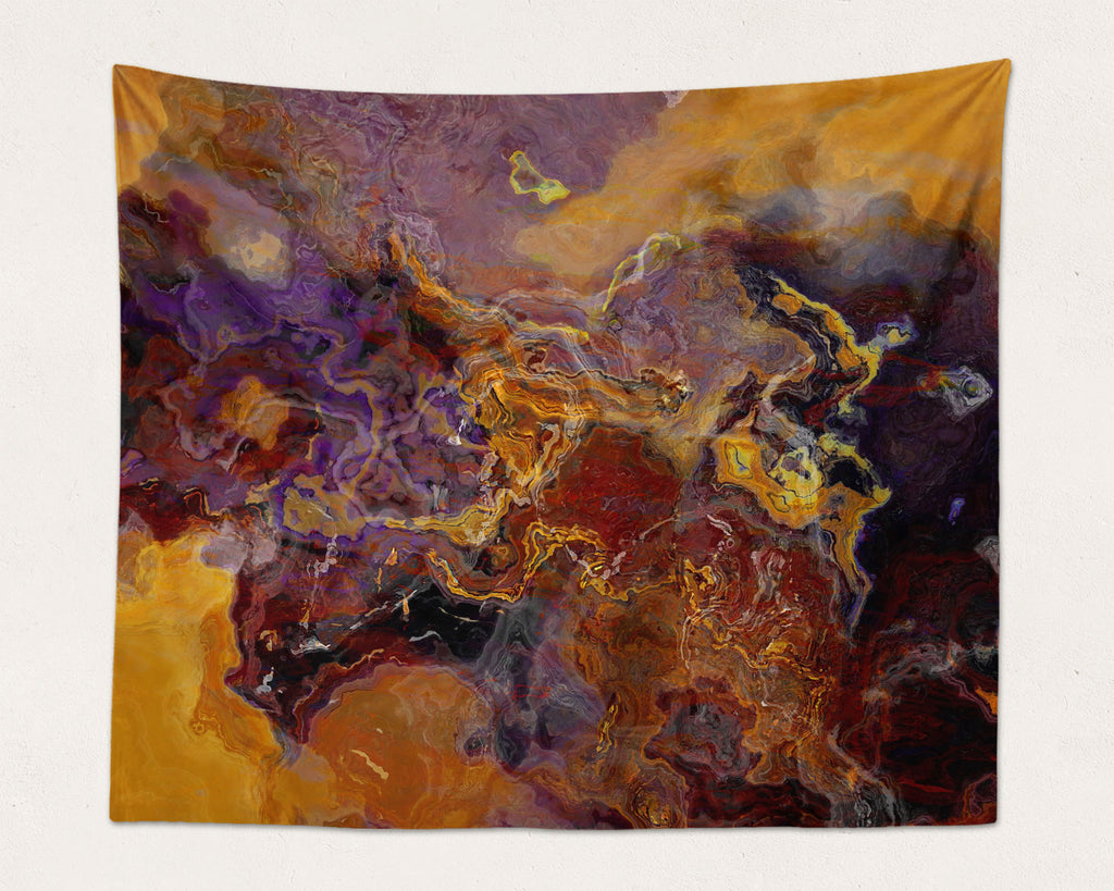 Abstract Art large modern wall hanging in Purple and Brown