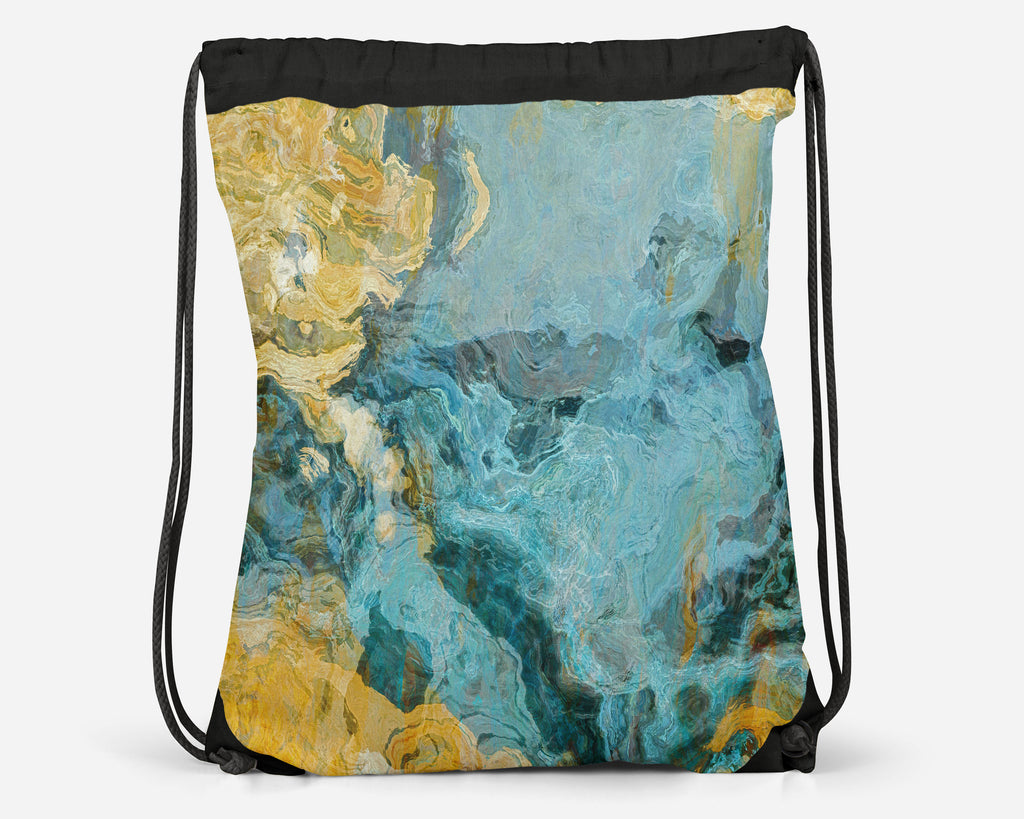 Drawstring Sling Bag, Sea and Sand