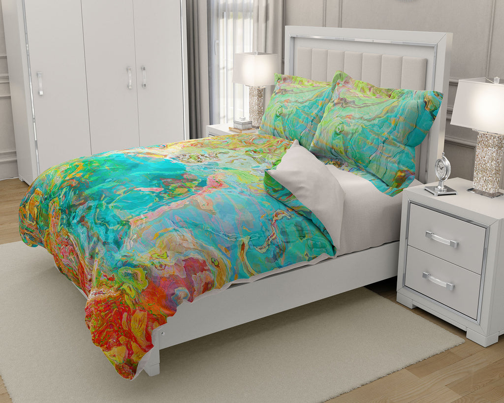 King or Queen Duvet Cover, Spring Melody