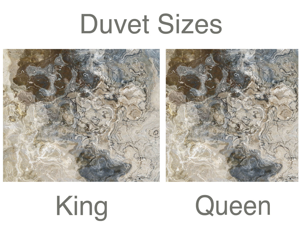 King or Queen Duvet Cover, Stone Poem