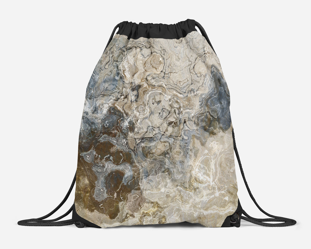 Drawstring Gym Bag, Abstract Art Lined Sling Bag, Backpack School Bag