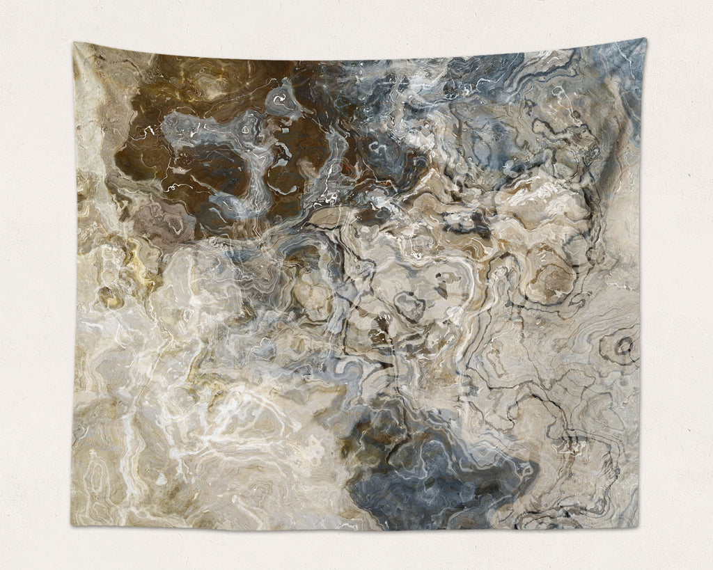 Abstract Art large modern wall hanging in Brown, Gray, Beige, White