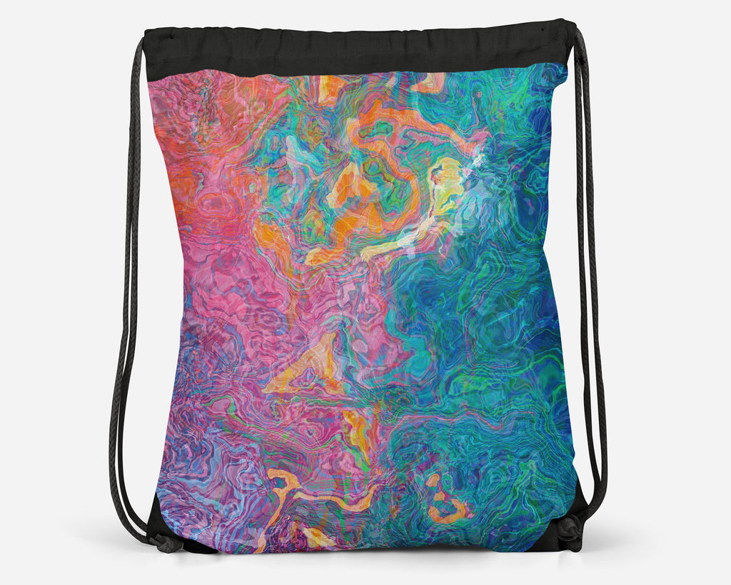 Drawstring Sling Bag, Summer Sunrise