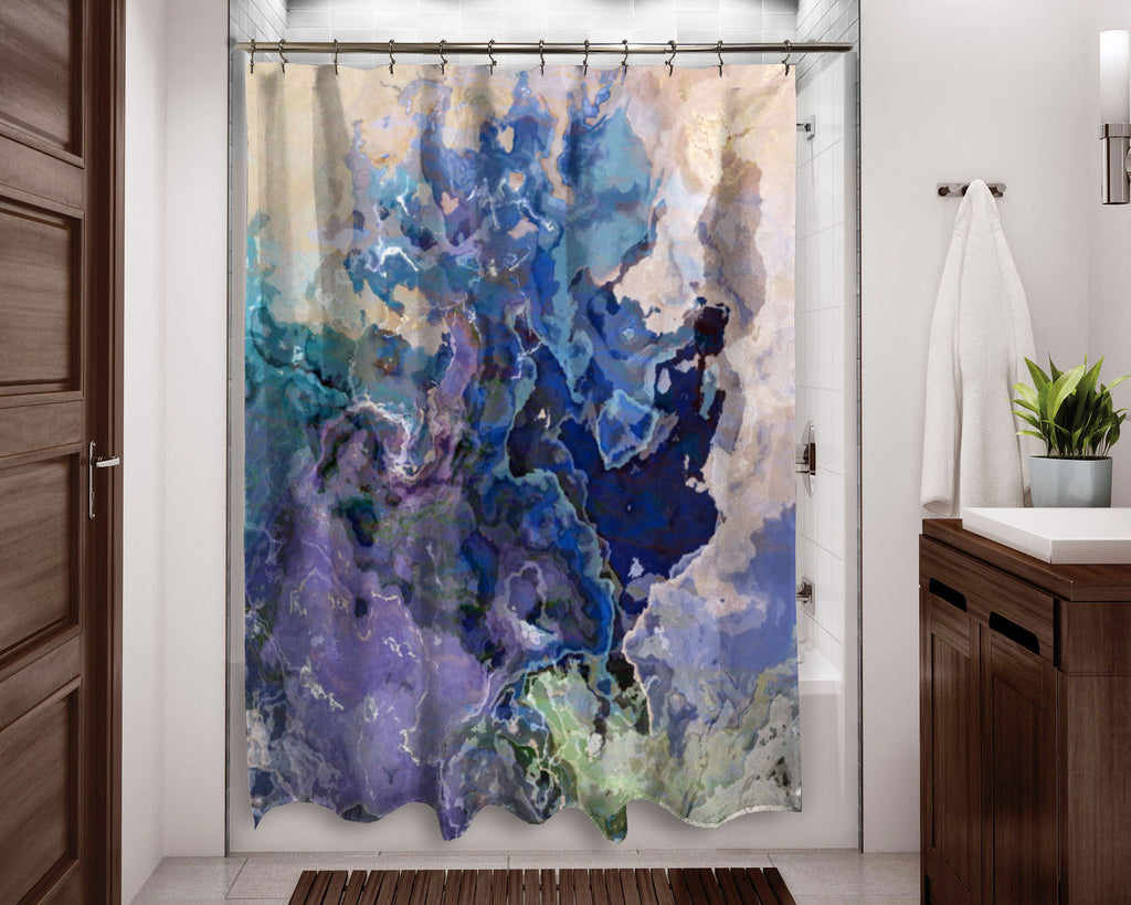 Shower Curtain, Blues