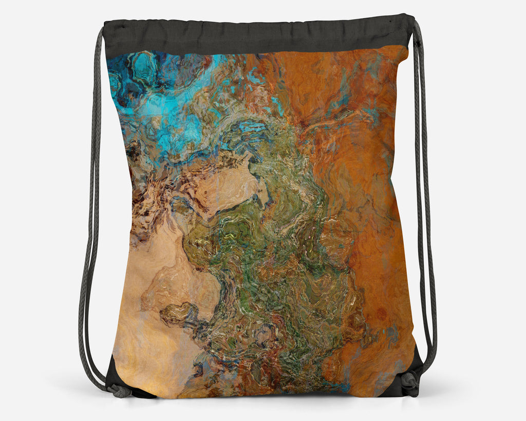Drawstring Sling Bag, Canyon Sunset