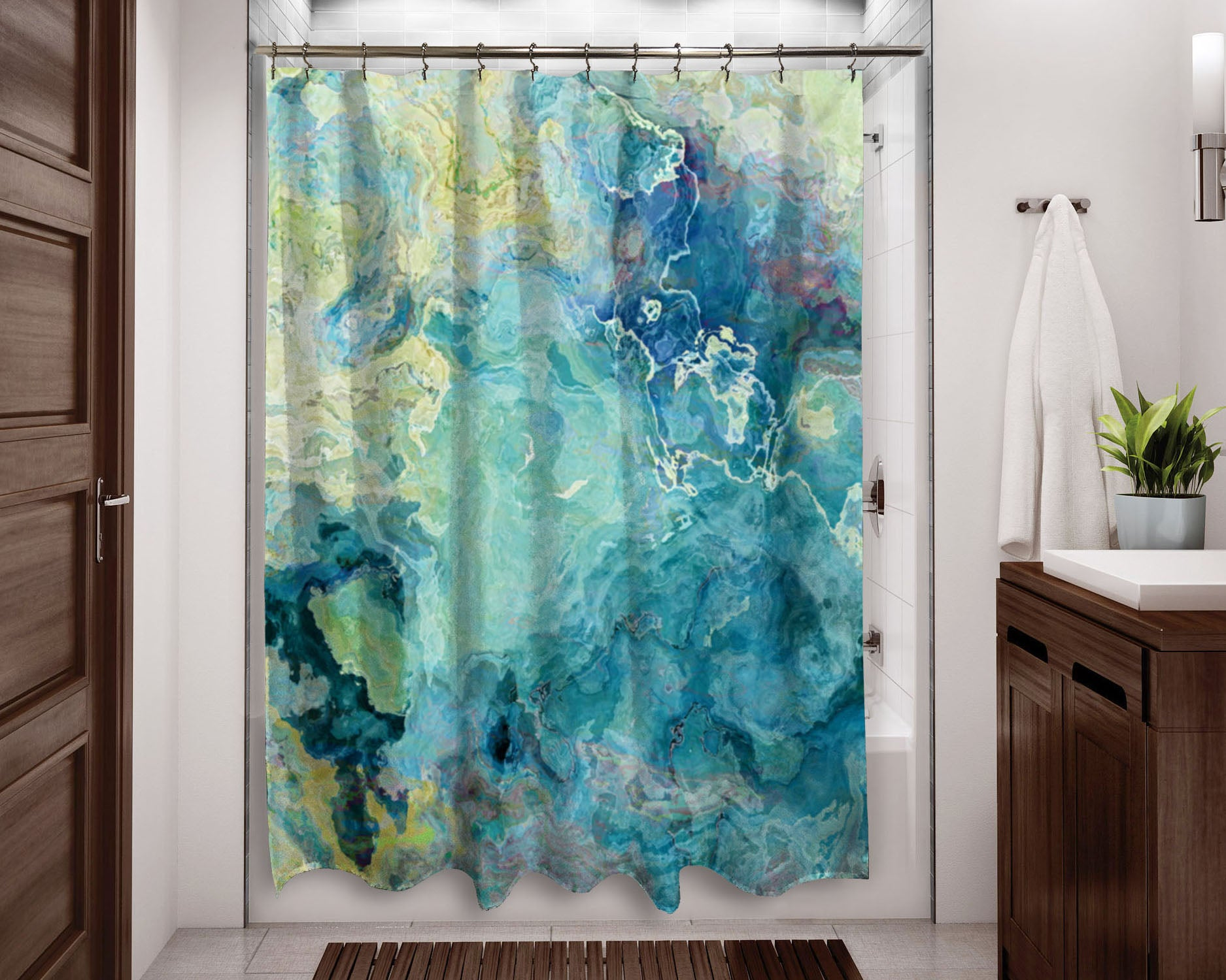 Abstract Shower Curtain Art