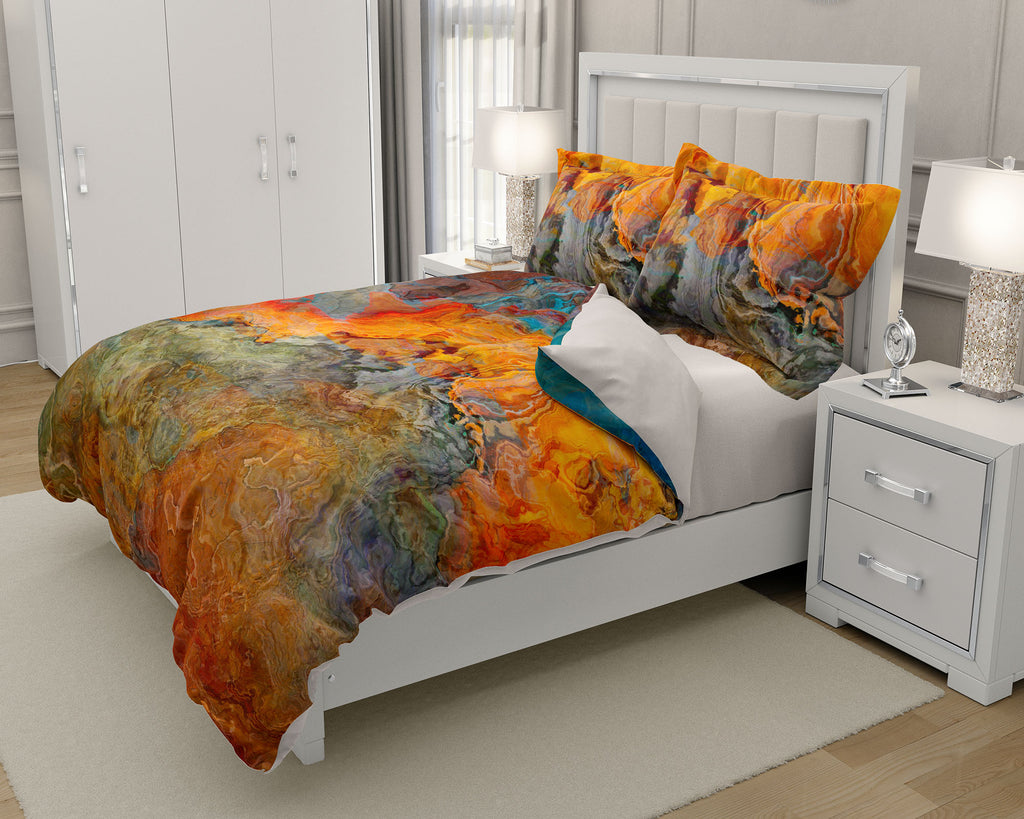 King or Queen Duvet Cover, Copper River